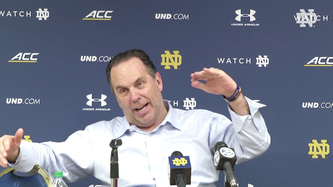 Post-Game Press Conference | @NDmbb vs Boston College (2018)