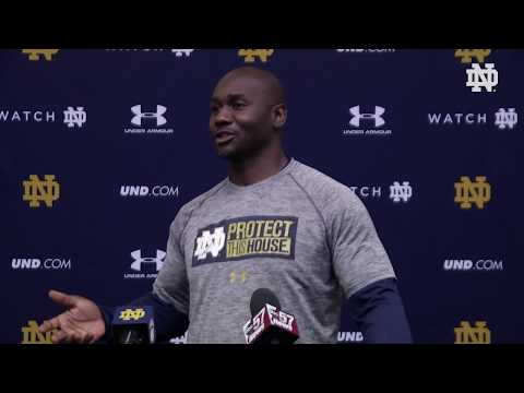@NDFootball Autry Denson Press Conference (03.27.18)