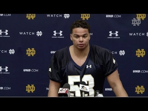 @NDFootball Sam Mustipher Press Conference (03.06.18)