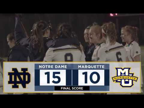 @NDWomensLax | Highlights vs. Marquette (2018)