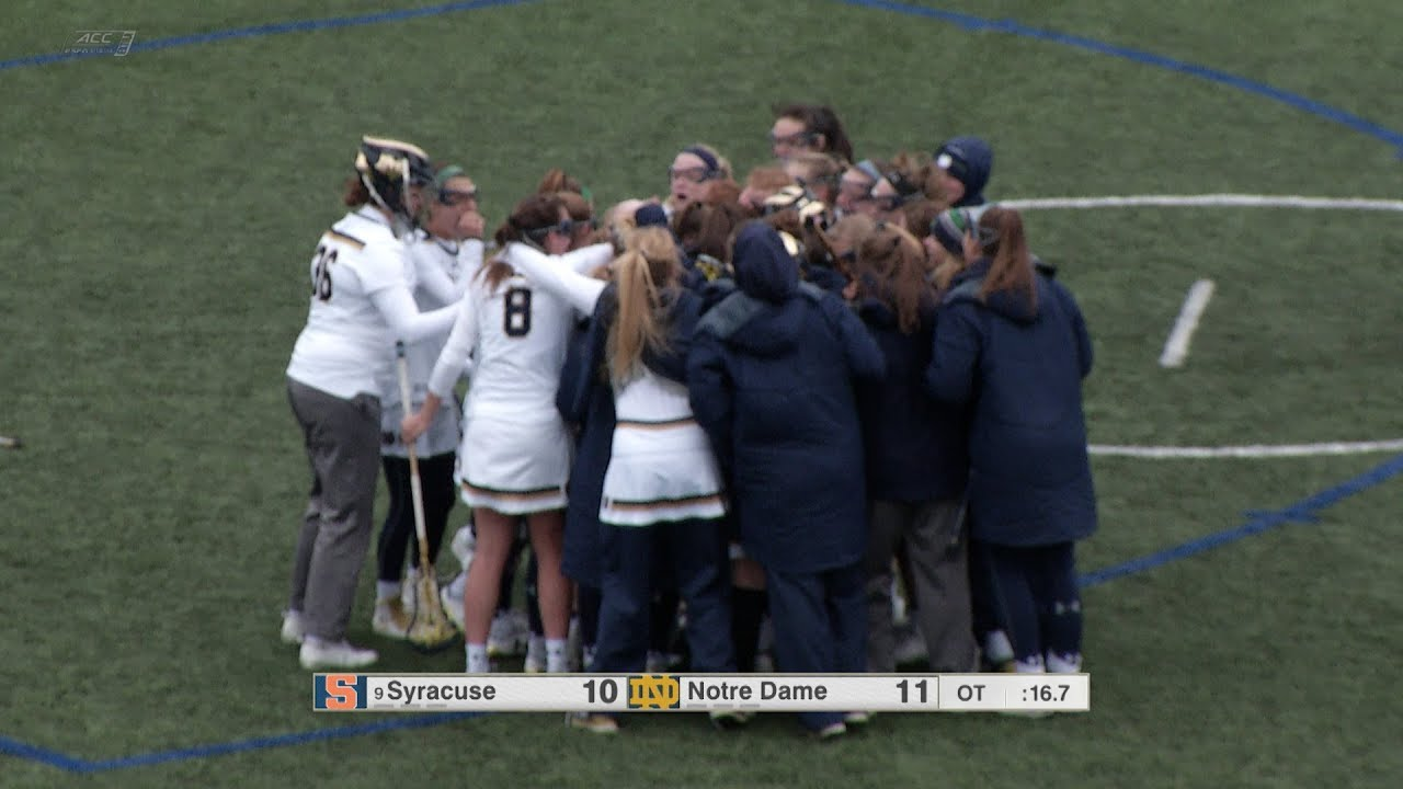 Highlights | @NDWomensLax vs. Syracuse (03.24.18)