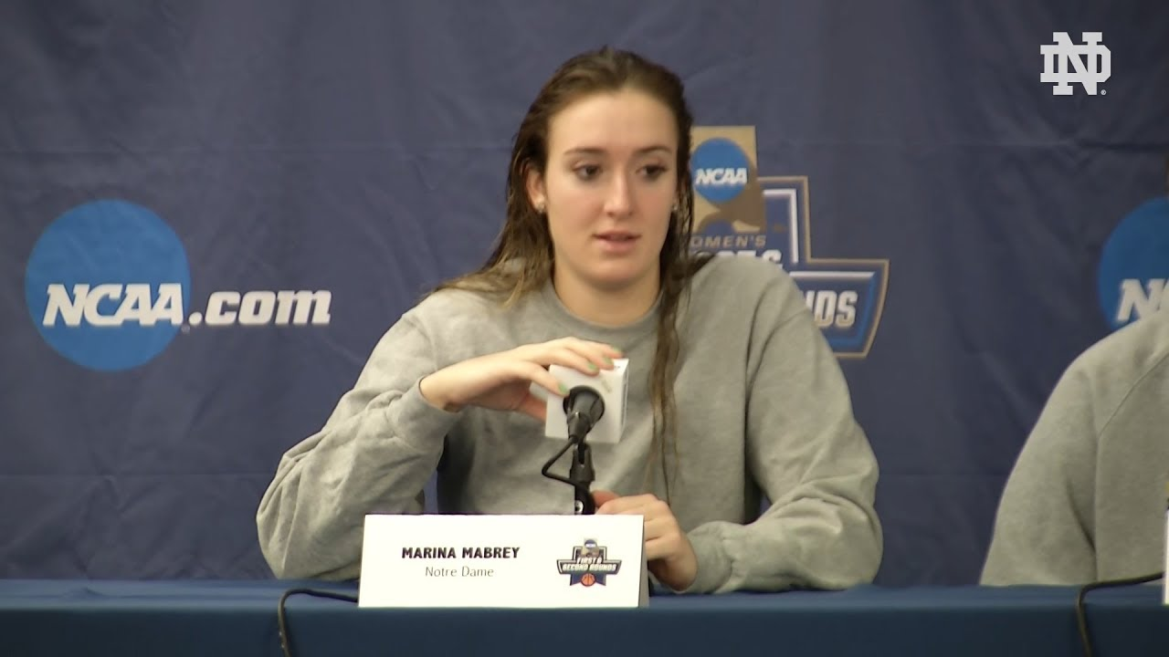 @ndwbb NCAA Tournament Press Conference - Second Round (03.17.18)