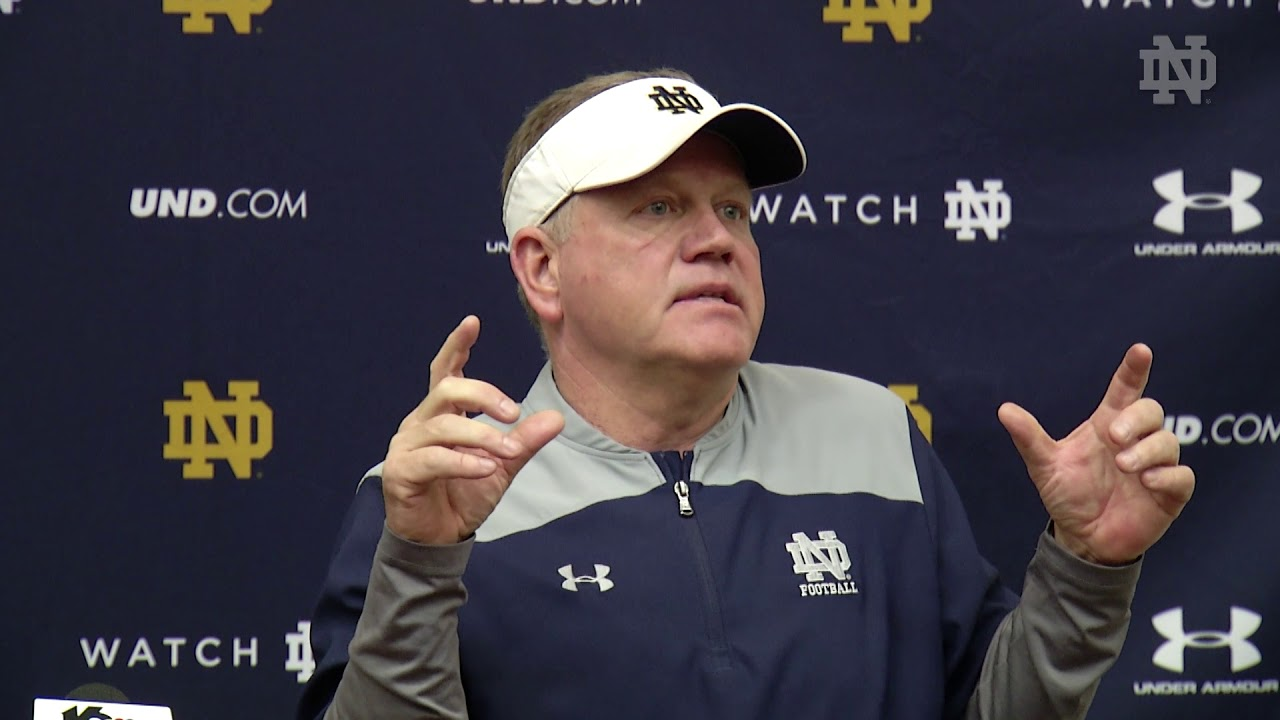 @NDFootball Brian Kelly Press Conference - Spring Practice - 4/14/18