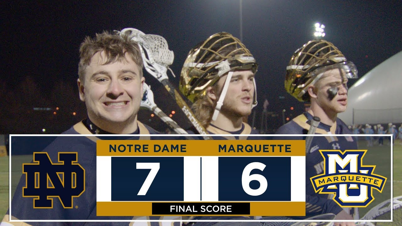 @NDLacrosse | Highlights at Marquette 2018