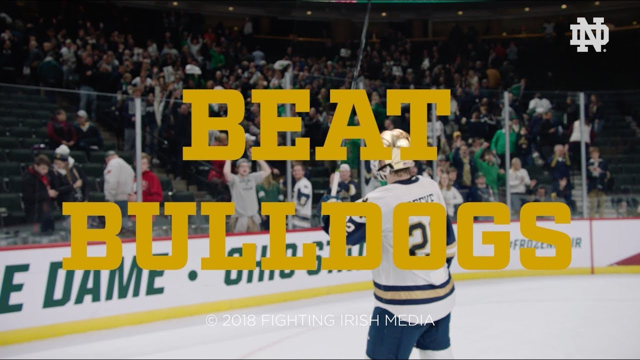 @NDHockey | Go Irish, Beat Bulldogs (2018)