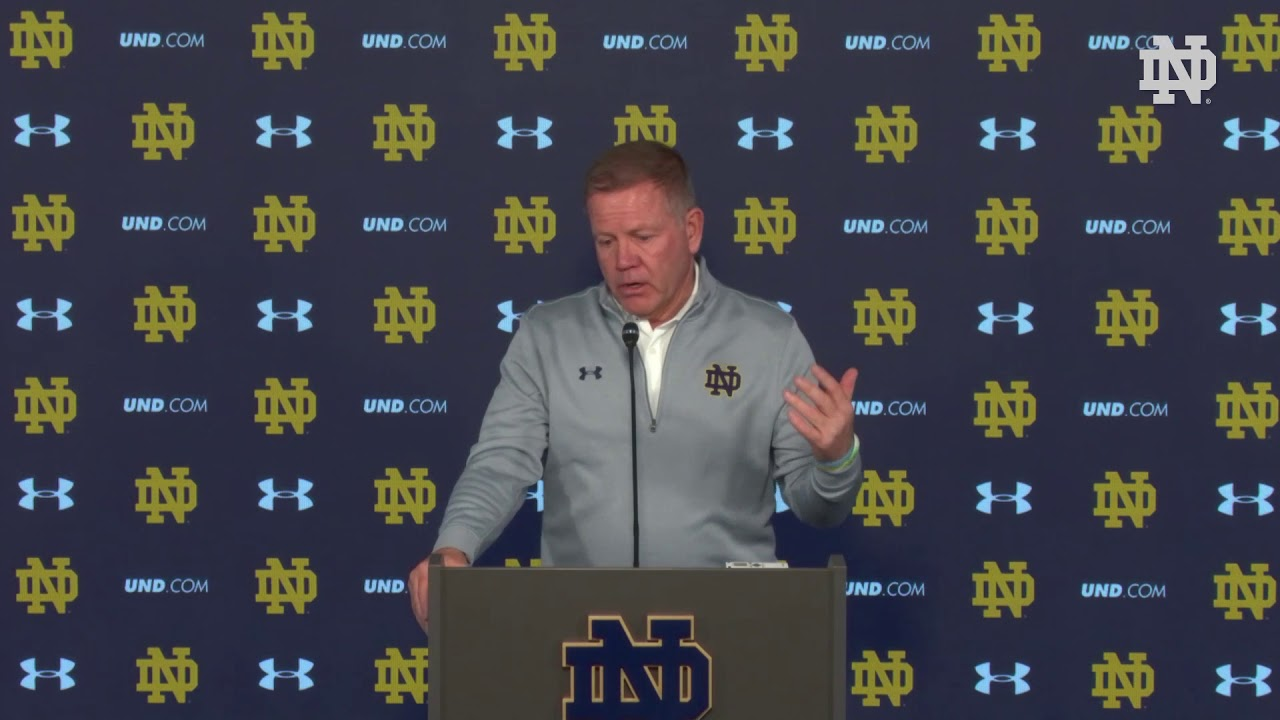 @NDFootball Brian Kelly Blue-Gold Game Press Conference (04.21.18)