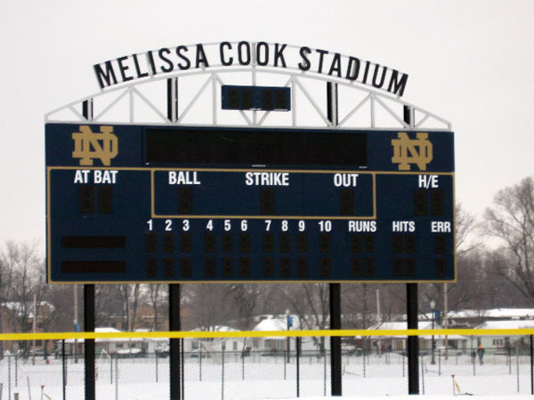 Melissa Cook Stadium Construction (Feb. 2008)