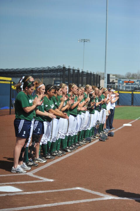 Notre Dame and Louisville Split Doubleheader