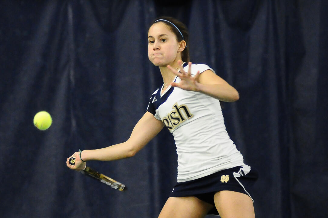 Notre Dame Women's Tennis vs Indiana on February 24th,2012