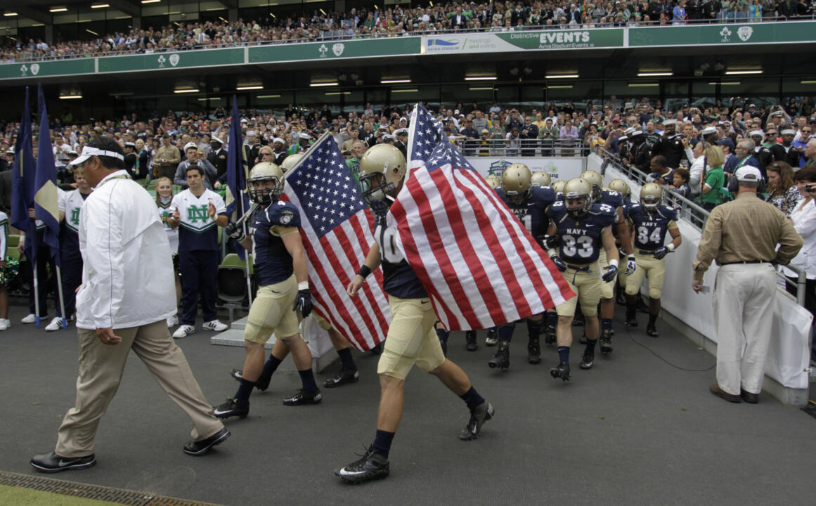 Notre Dame Pounds Navy 50-10 in Dublin (AP)