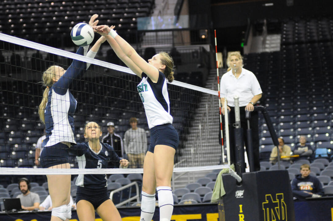 Notre Dame Volleyball vs UCONN on 10-06-2012