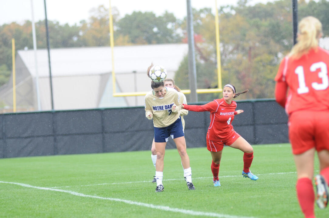 Notre Dame Women's Soccer vs Rutgers on 10-07-2012