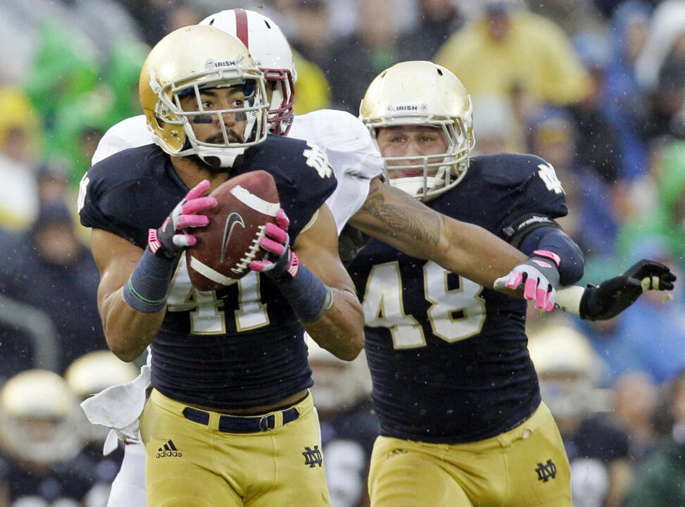 Defense, #7 Irish Stop #17 Stanford, 20-13 in OT (AP)