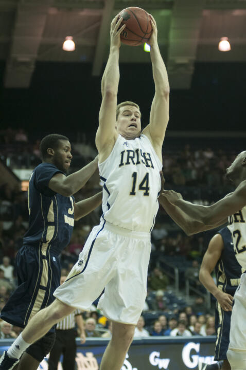 Notre Dame Men's Basketball win over George Washington 65-48 on 11-21-2012