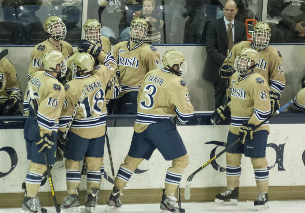 Notre Dame Men's Ice Hockey Sweeps Lake Superior State 12-01-2012