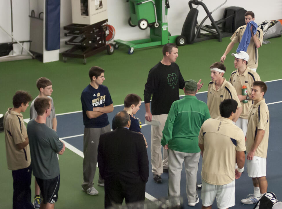 Notre Dame Men's Tennis vs Michigan on 02-16-2013