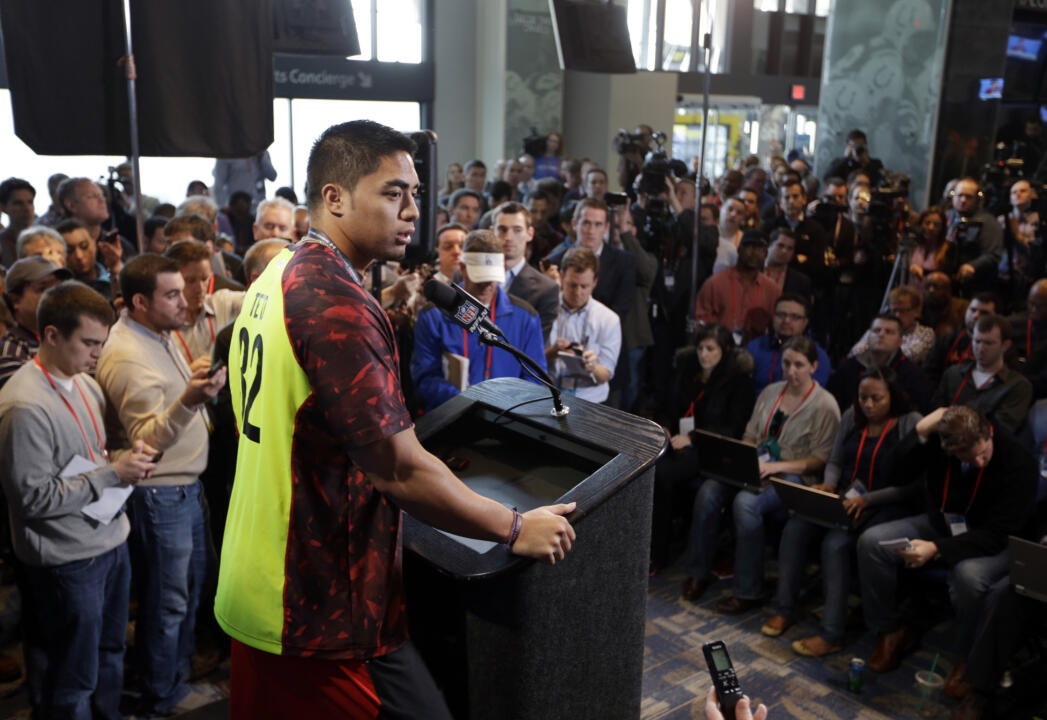 Irish at the NFL Combine (AP)