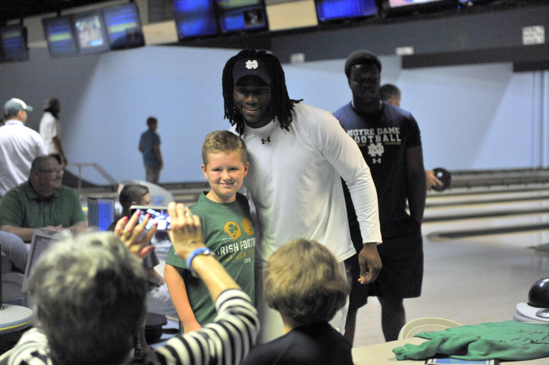 2015 Notre Dame Football, Uplifting Athletes Bowling Event