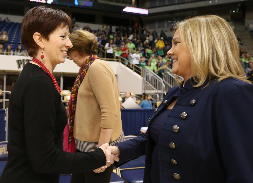 #3 Irish Top Pittsburgh, 65-55, for Muffet McGraw's 800th