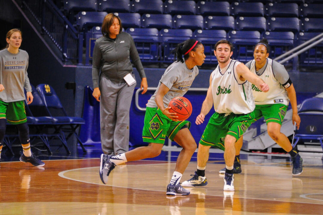 ND Women's Basketball Practice Players