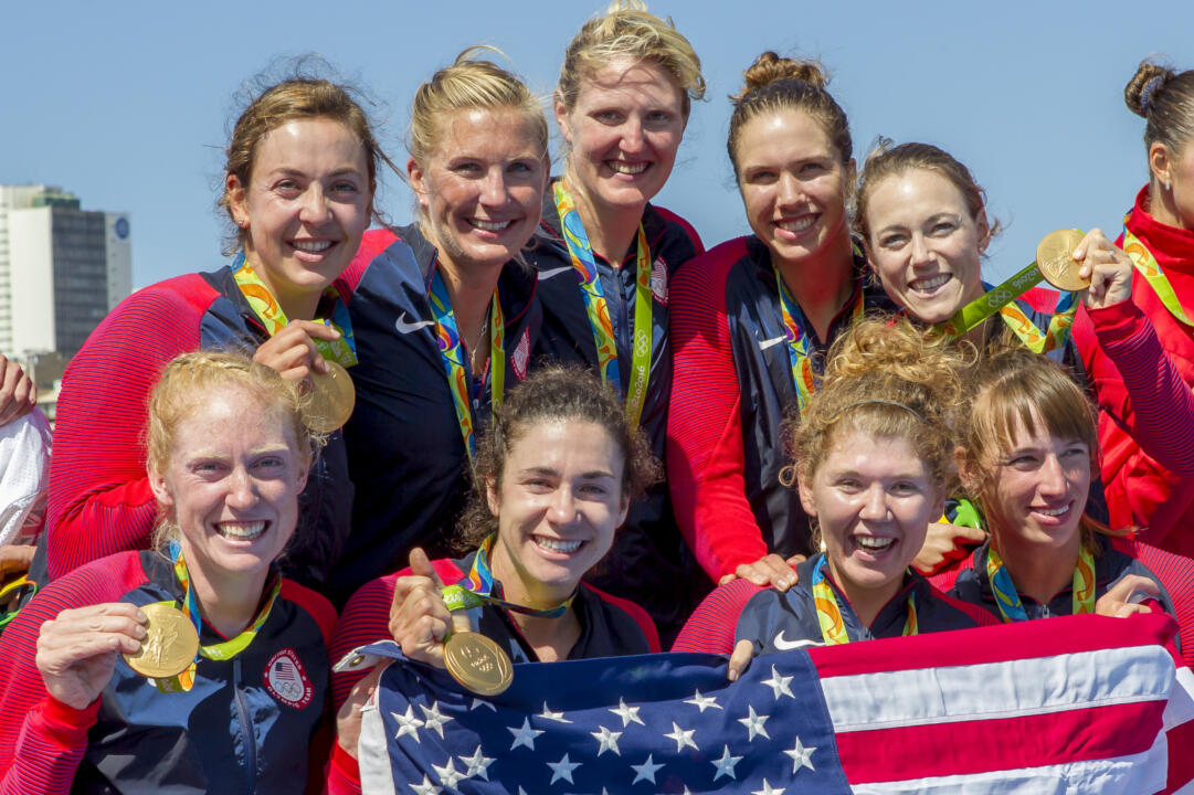 Polk Wins Gold Medal With U.S. Women's Eight
