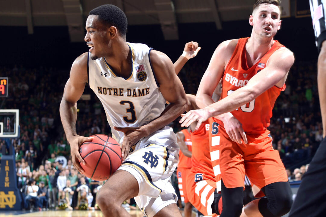 Notre Dame 84, Syracuse 66
