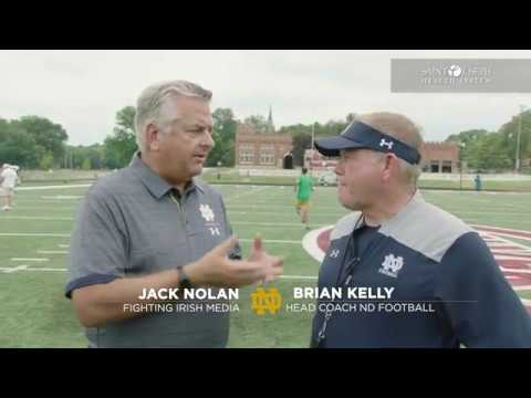 @NDFootball | Brian Kelly Post-Practice Interview Culver Day 4 (8.6.18)