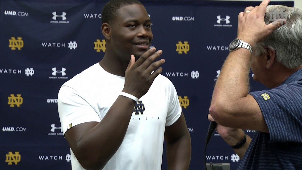 @NDFootball Daelin Hayes 1 on 1 - Preseason (08.09.18)