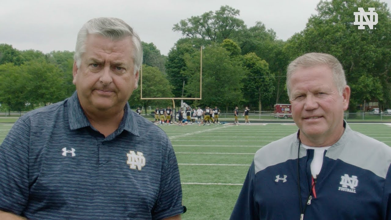 @NDFootball | Brian Kelly Post-Practice Interview (8.07.18)