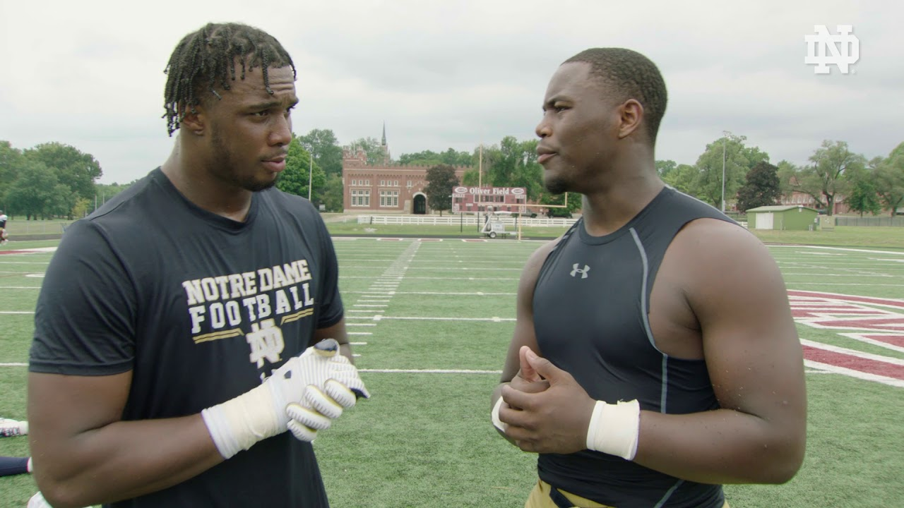 @NDFootball | Khalid Kareem and Daelin Hayes Post Practice Interview