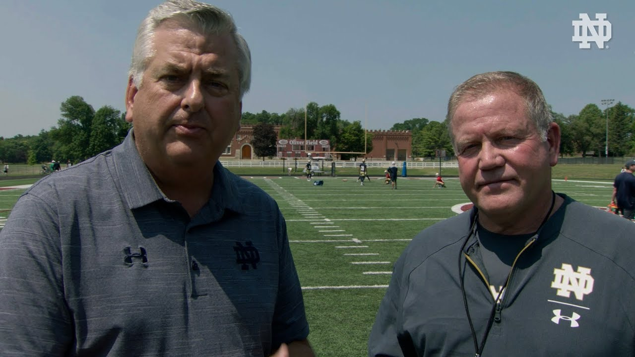 @NDFootball | Brian Kelly Post-Practice Interview Culver Day 2 (8.4.18)