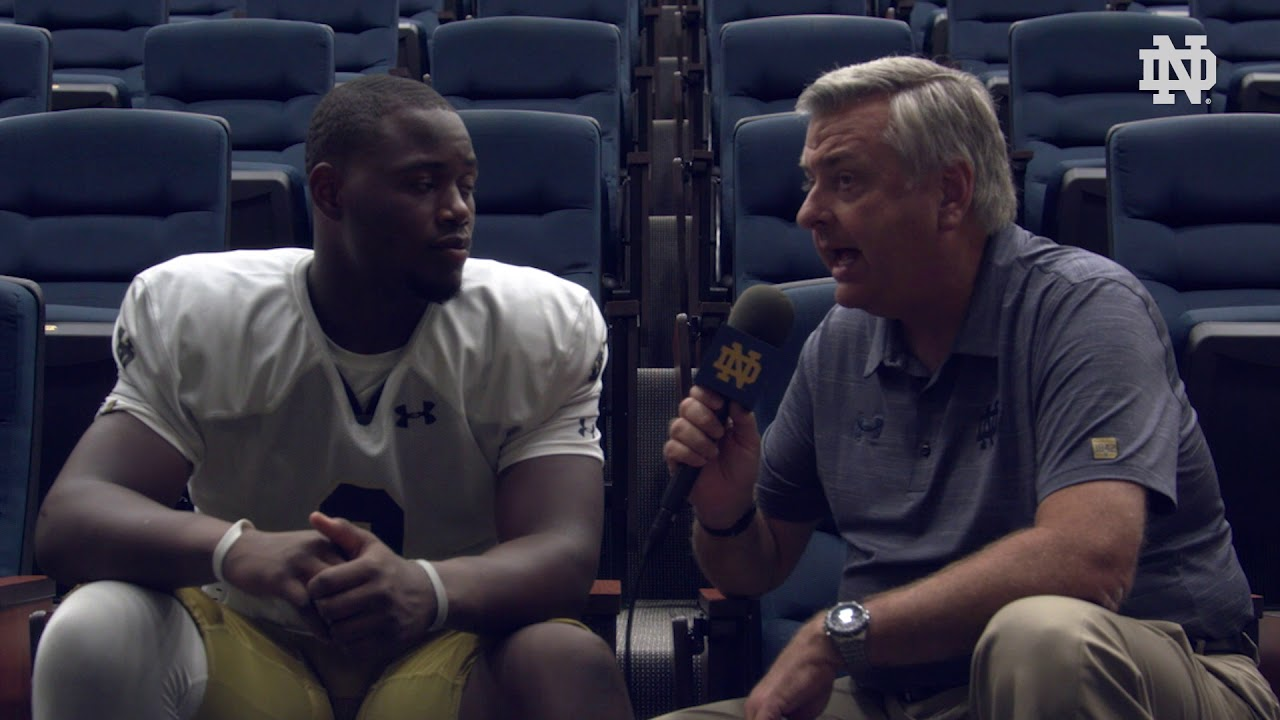 @NDFootball | Post Practice Interview: Daelin Hayes