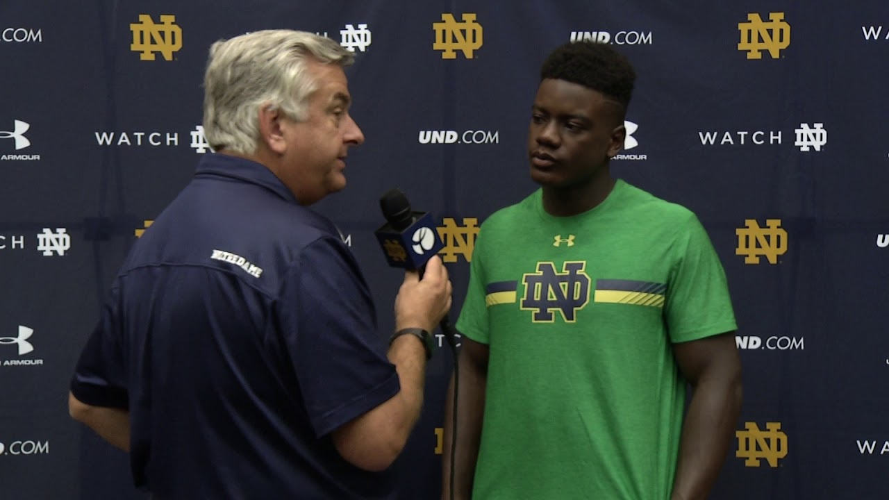 @NDFootball Jafar Armstrong 1 on 1 - Preseason (08.23.18)