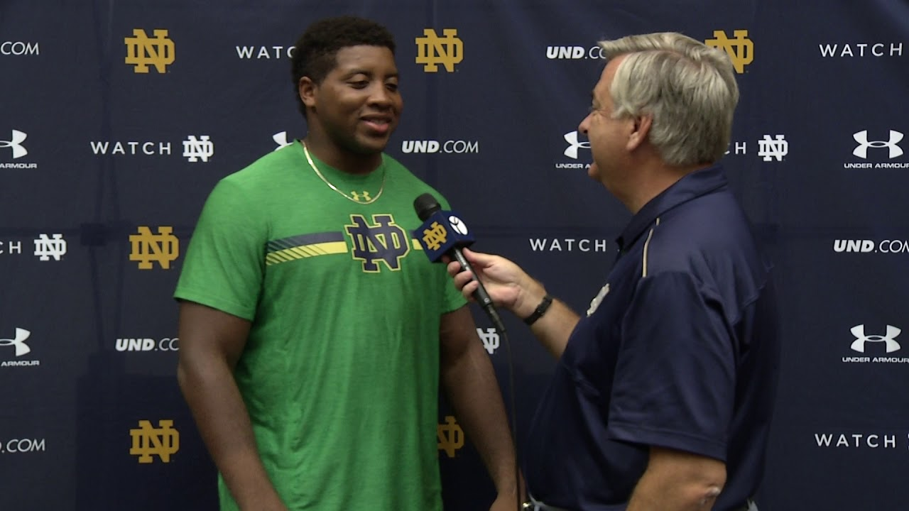 @NDFootball Jon Bonner 1 on 1 - Preseason (08.23.18)