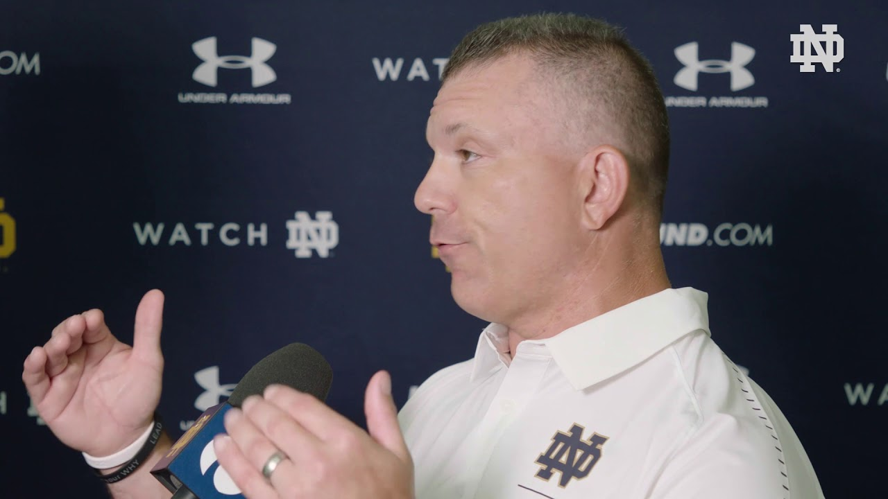 @NDFootball | Media Day Interview - Matt Balis (2018)