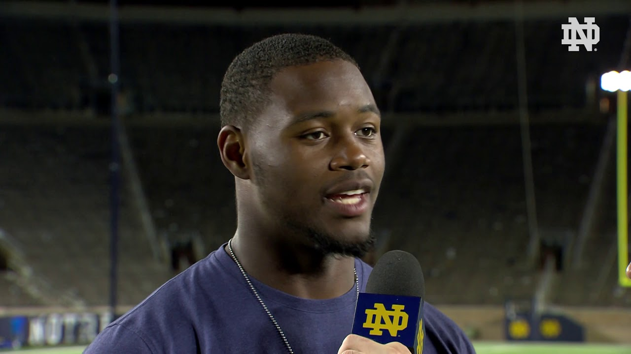 @NDFootball | Daelin Hayes Post-Game Interview vs. Stanford (2018)
