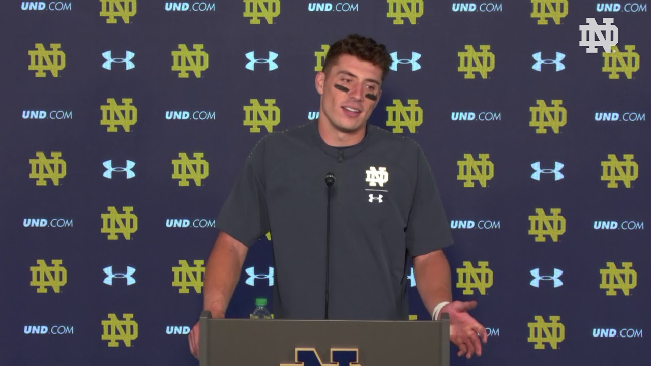 @NDFootball | Ian Book Post-Game Press Conference vs. Stanford (2018)
