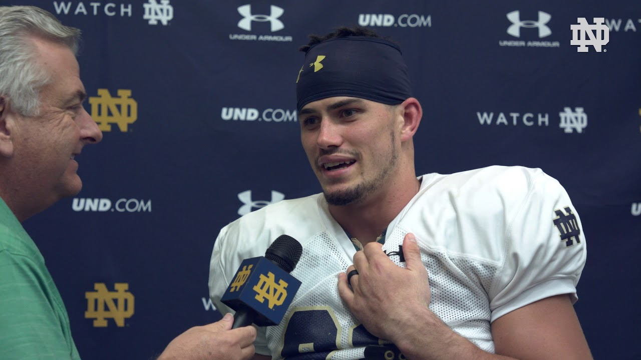 @NDFootball | Drue Tranquill Post Practice Interview Stanford Week (2018)