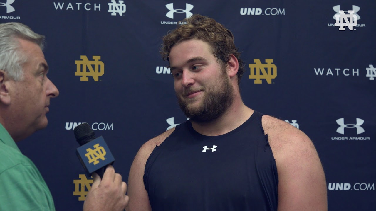 @NDFootball | Trevor Ruhland Post Practice Interview Stanford Week (2018)