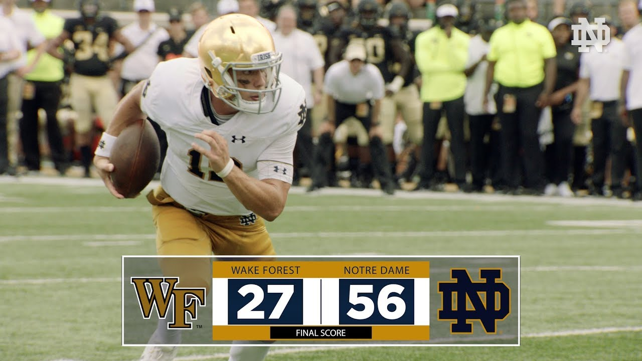 Top Plays | @NDFootball vs. Wake Forest (2018)