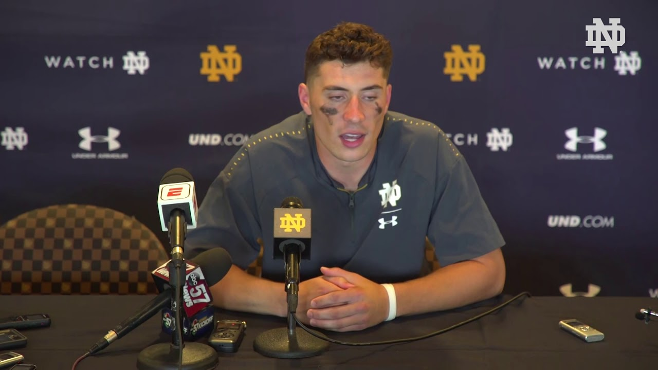 @NDFootball | Ian Book Post-Game Press Conference vs. Wake Forest (2018)