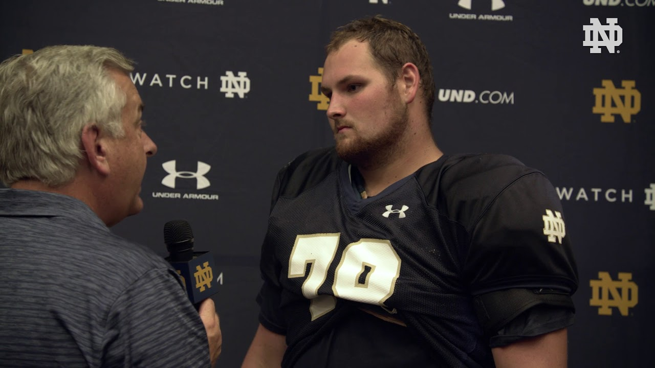 @NDFootball | Tommy Kraemer Post Practice Interview Ball State Week (2018)
