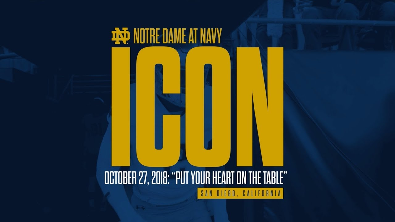 @NDFootball | ICON - Navy (2018)
