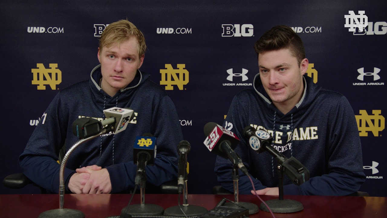 @NDHockey | Joe Wegwerth and Cale Morris Press Conference