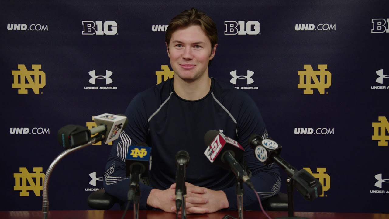 @NDHockey | Andrew Peeke Press Conference