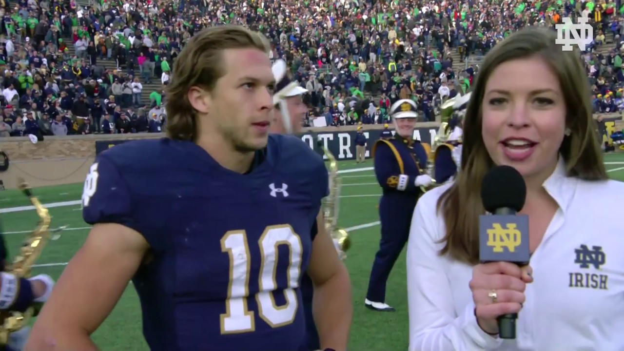 @NDFootball | Chris Finke Post-Game Interview vs. Pittsburgh (2018)