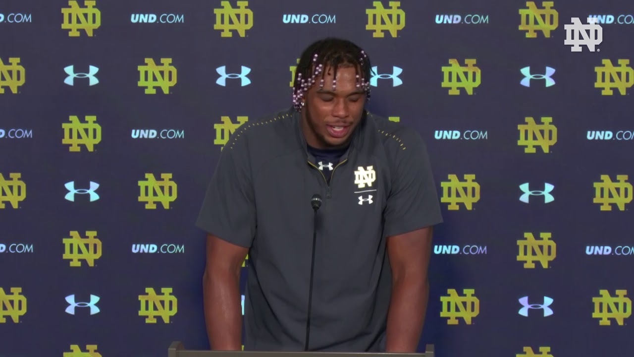 @NDFootball | Khalid Kareem Post-Game Press Conference vs. Pittsburgh (2018)