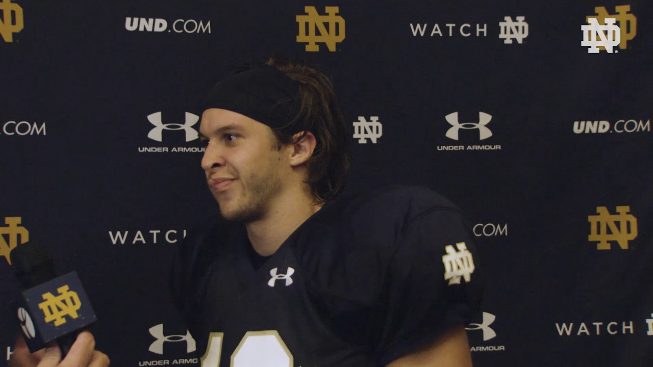 @NDFootball | Chris Finke Post Practice Interview Pittsburgh Week (2018)