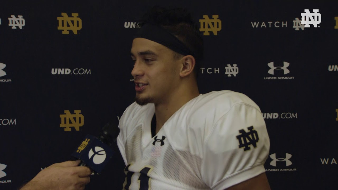 @NDFootball | Alohi Gilman Post Practice Interview Pittsburgh Week (2018)