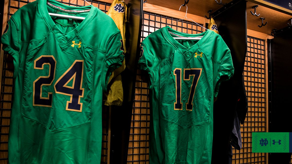 quality design b7c2d 02781 NDFootball Will Wear Green Against Florida State – Notre ...